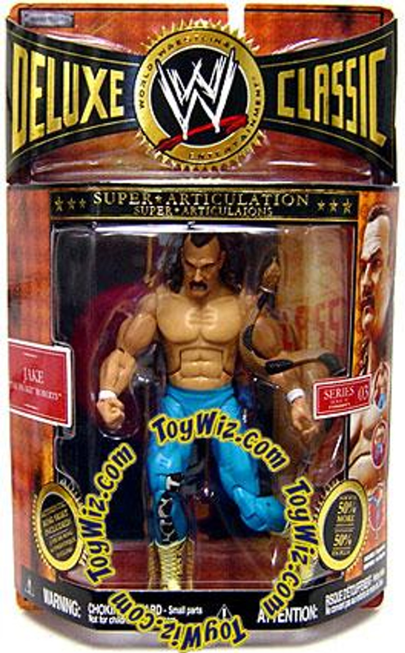 WWE Wrestling Deluxe Classic Superstars Series 3 Jake the Snake Roberts Exclusive Action Figure