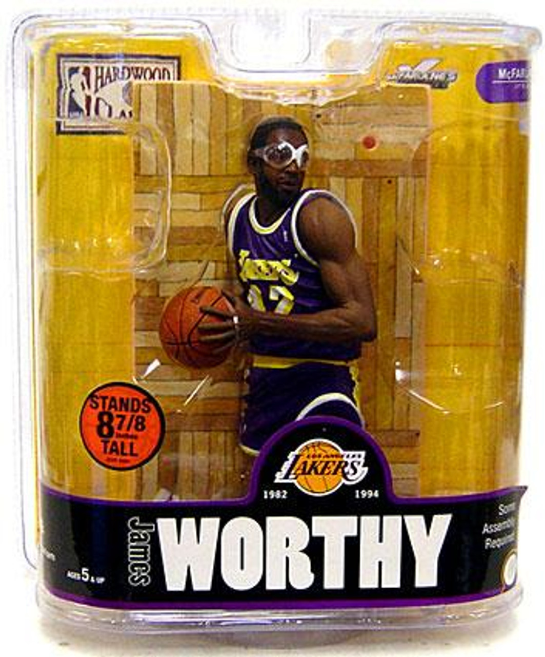 McFarlane Toys NBA Los Angeles Lakers Sports Picks Legends Series 3 James Worthy Action Figure [Purple Jersey Variant]