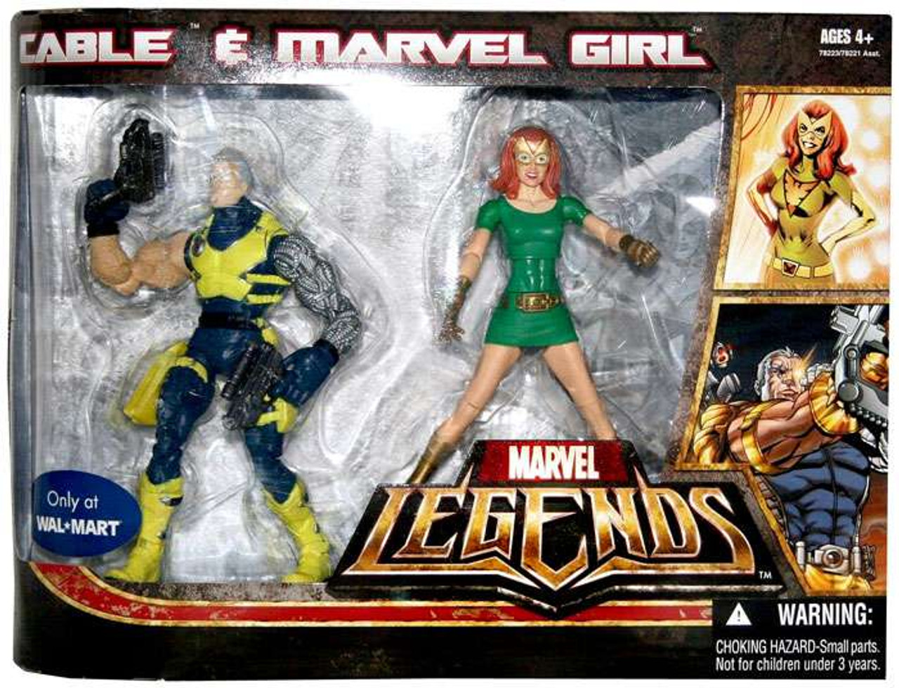 Marvel Legends Cable & Marvel Girl Exclusive Action Figure 2-Pack