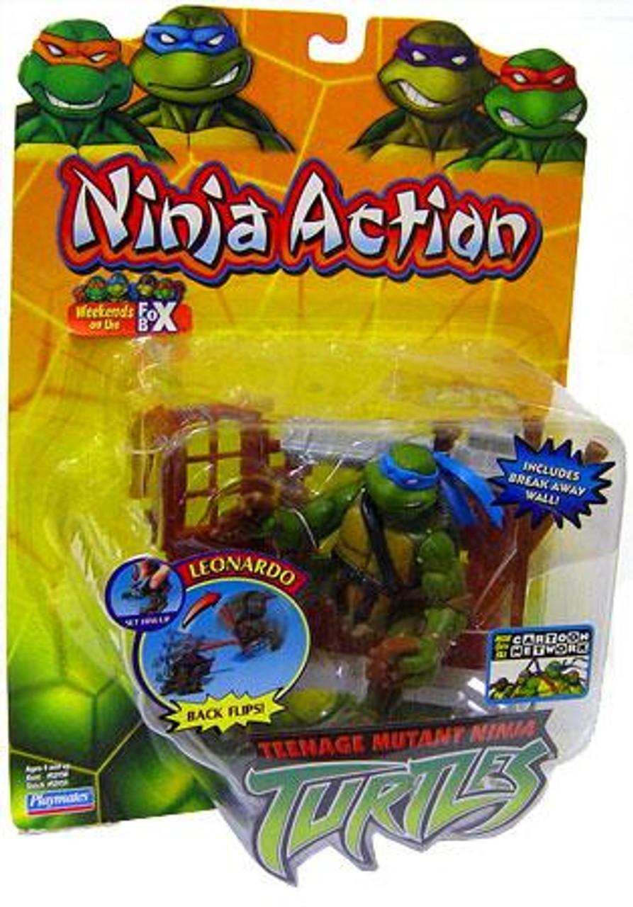 Teenage Mutant Ninja Turtles 2003 Ninja Action Leonardo Action Figure