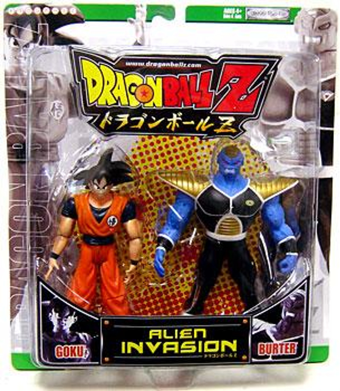 Dragon Ball Z Alien Invasion Goku vs. Burter Action Figure 2-Pack [Green Package]