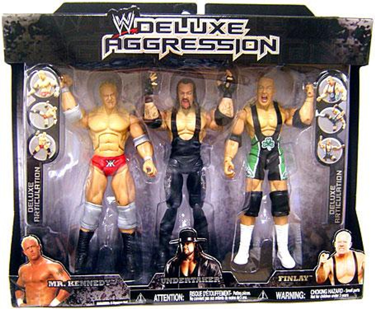WWE Wrestling Deluxe Aggression Undertaker, Mr. Kennedy & Finlay Exclusive Action Figure 3-Pack