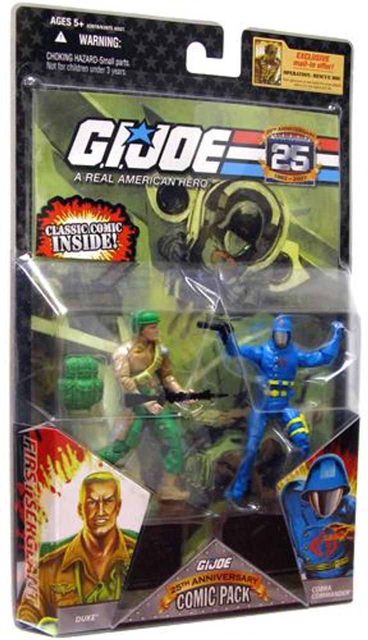 GI Joe 25th Anniversary Wave 1 Comic Pack Duke & Cobra Commander Action Figure 2-Pack