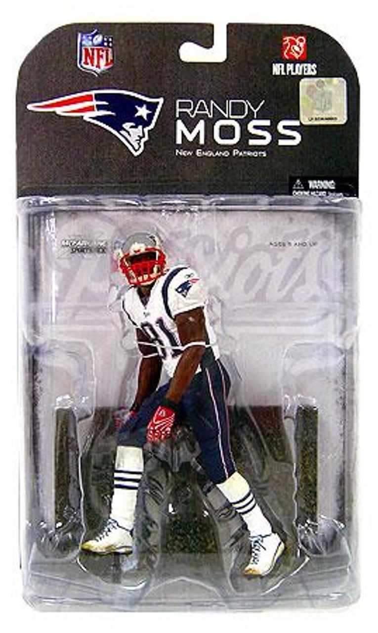 McFarlane Toys NFL New England Patriots Sports Picks Series 17 Randy Moss Action Figure [White Armband]