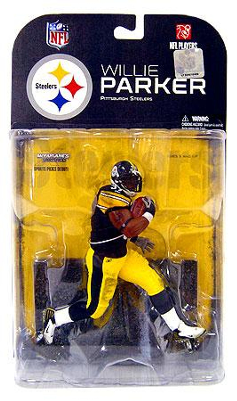 McFarlane Toys NFL Pittsburgh Steelers Sports Picks Series 17 Willie Parker Action Figure [White Wrist Tape]