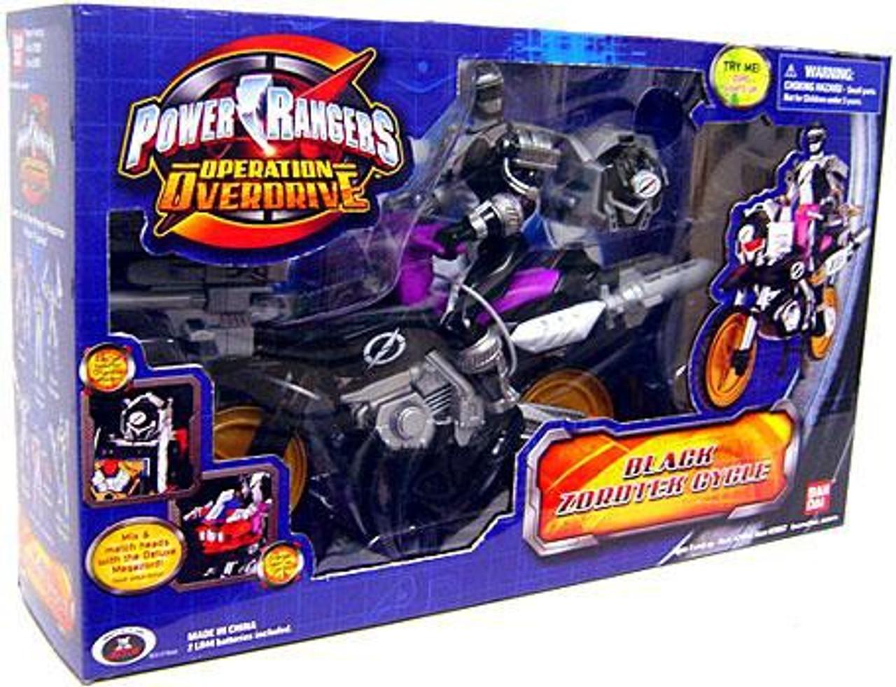 Power Rangers Operation Overdrive Black Zordtek Cycle Action Figure