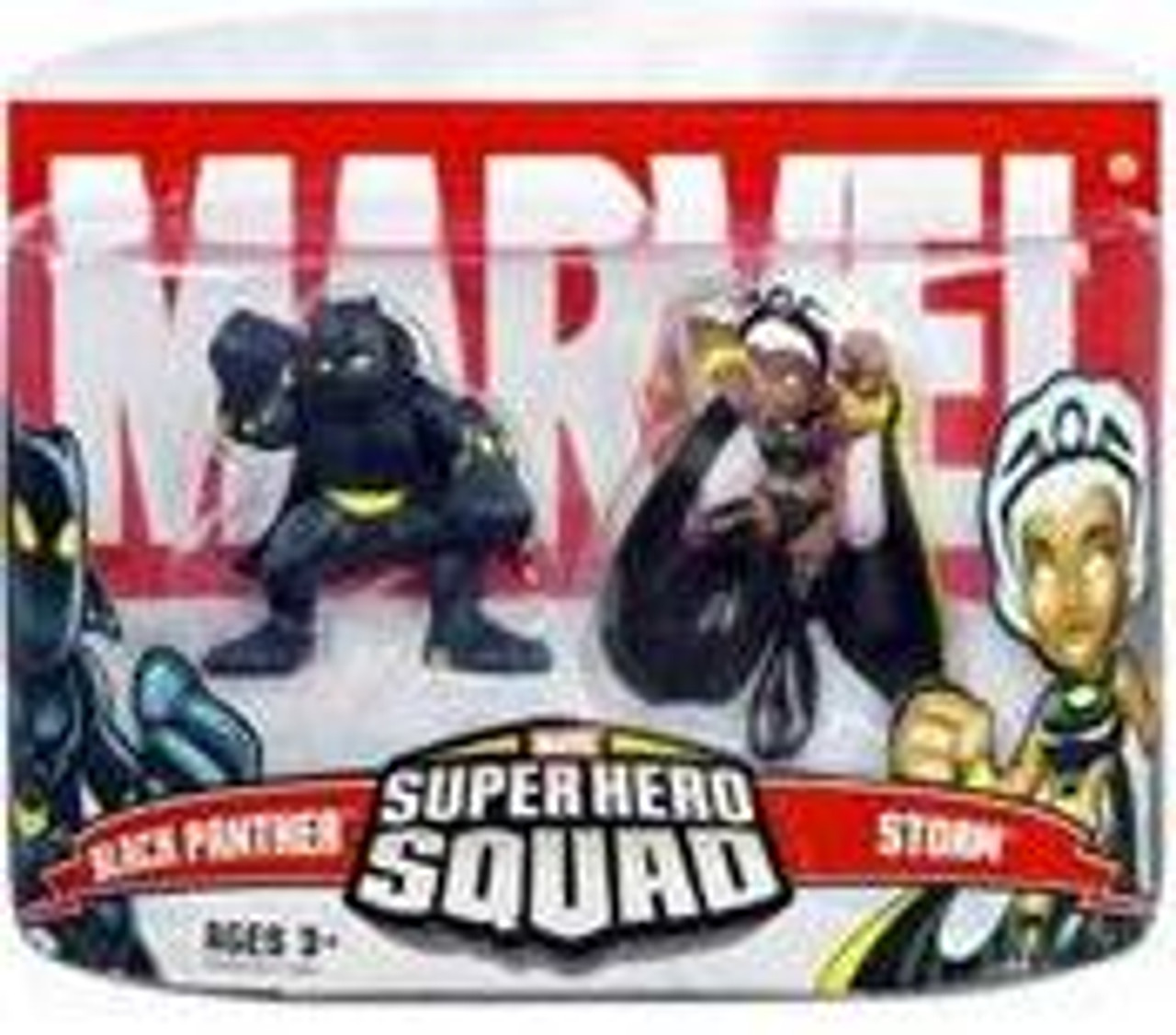 Marvel Super Hero Squad Series 5 Black Panther & Storm Action Figure 2-Pack