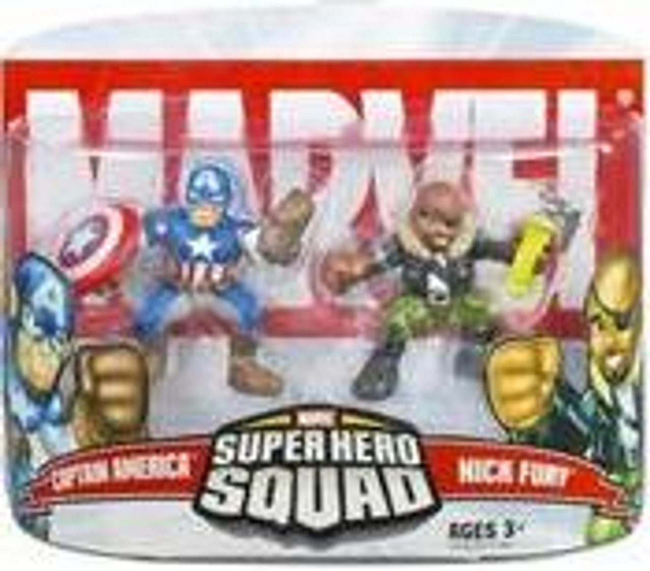 Marvel Super Hero Squad Series 5 Captain America & Nick Fury Action Figure 2-Pack