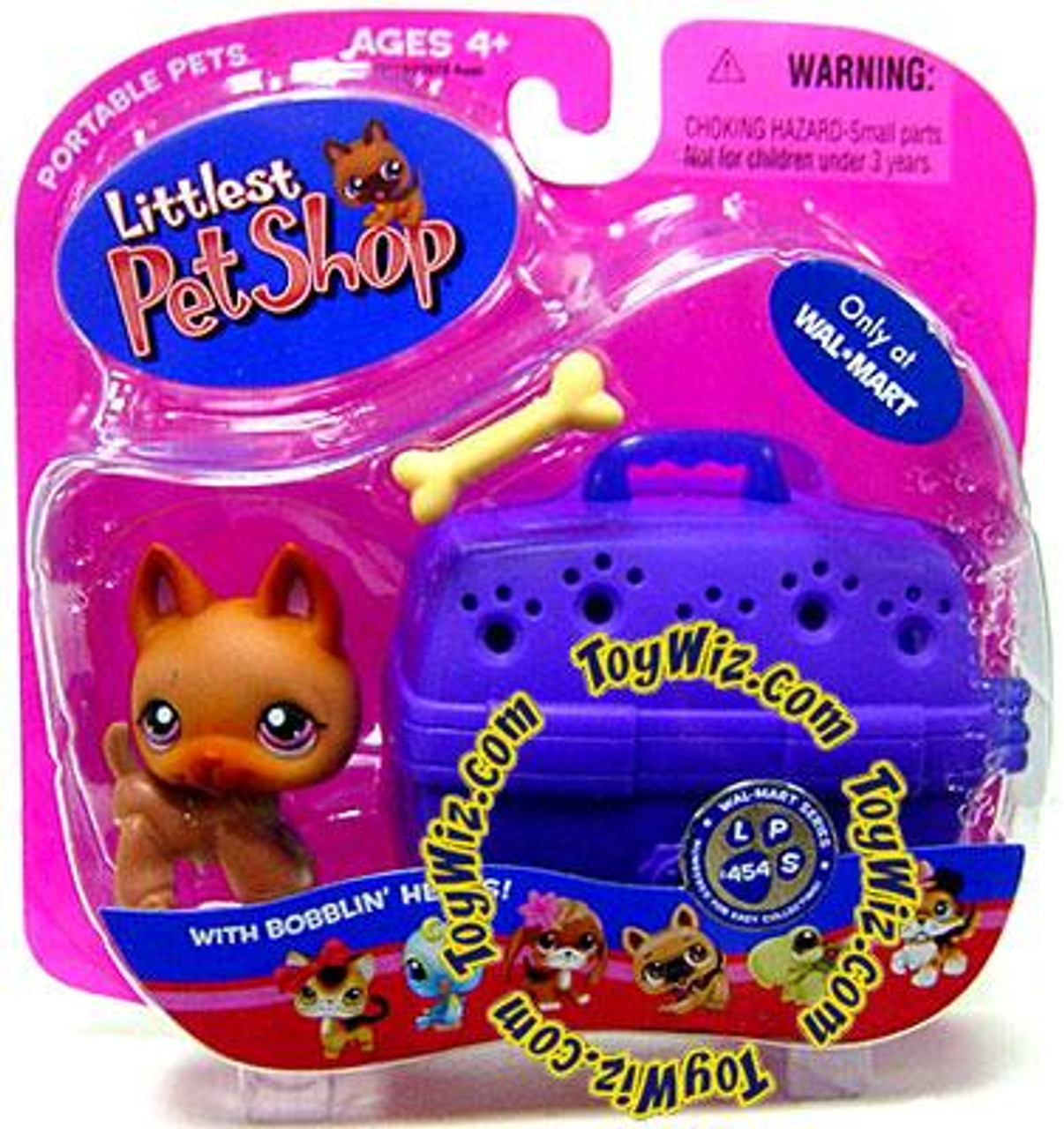 Littlest Pet Shop Portable Pets Baby German Shepherd Exclusive Figure #454 [With Bone]