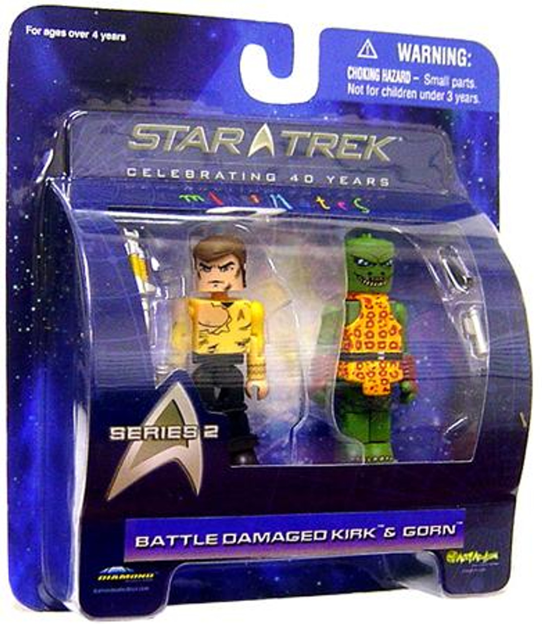 Star Trek The Original Series MiniMates Series 2 Battle Damaged Kirk & Gorn Minifigure 2-Pack