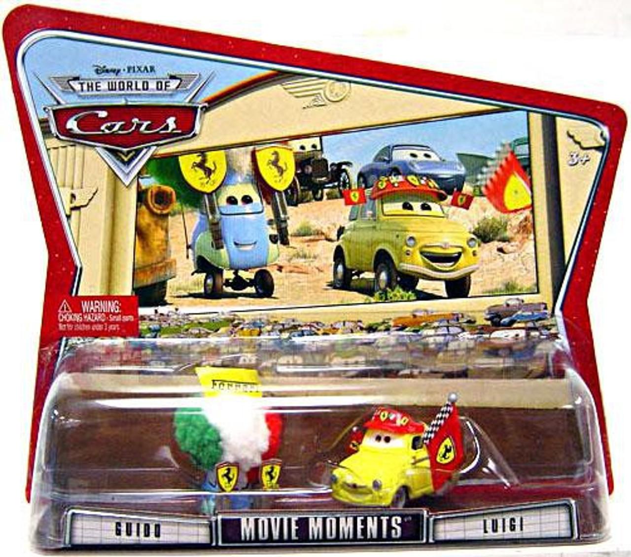 Disney Cars The World of Cars Movie Moments Guido & Luigi Diecast Car 2-Pack [Ferrari Gear]