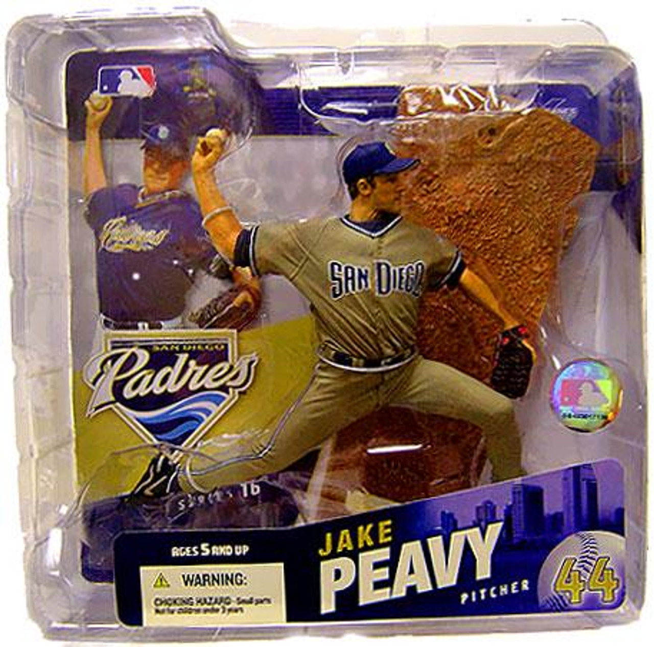 McFarlane Toys MLB San Diego Padres Sports Picks Series 16 Jake Peavy Action Figure [Sand Jersey Variant]