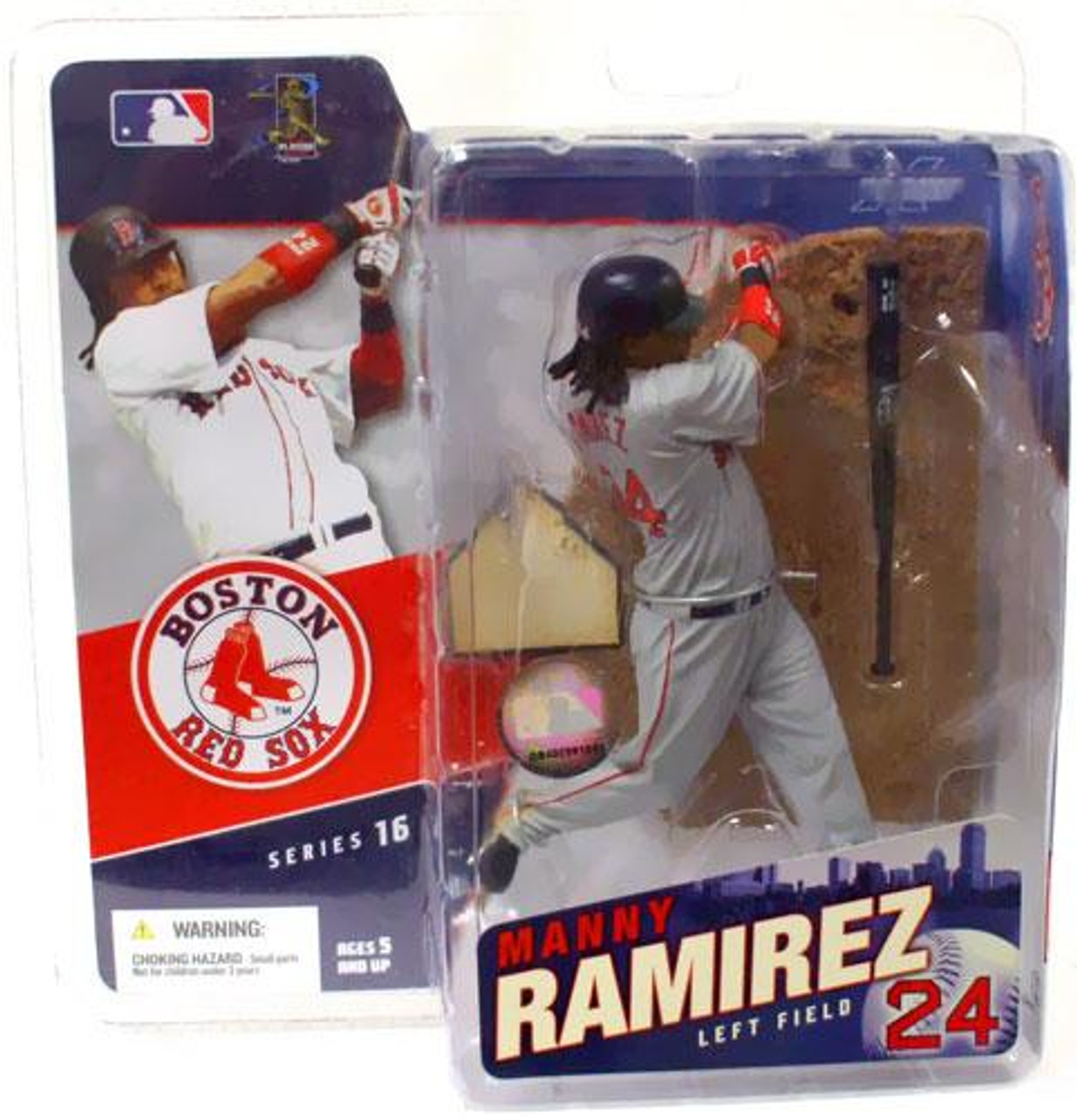 McFarlane Toys MLB Boston Red Sox Sports Picks Series 16 Manny Ramirez Action Figure [Gray Jersey Variant]
