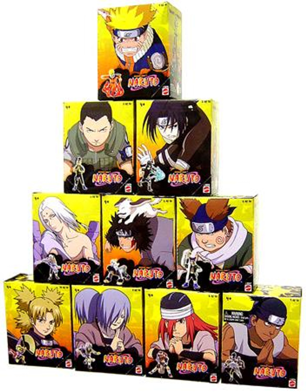 Naruto Set of 10 Tree Diorama Series 1 3-Inch PVC Figures