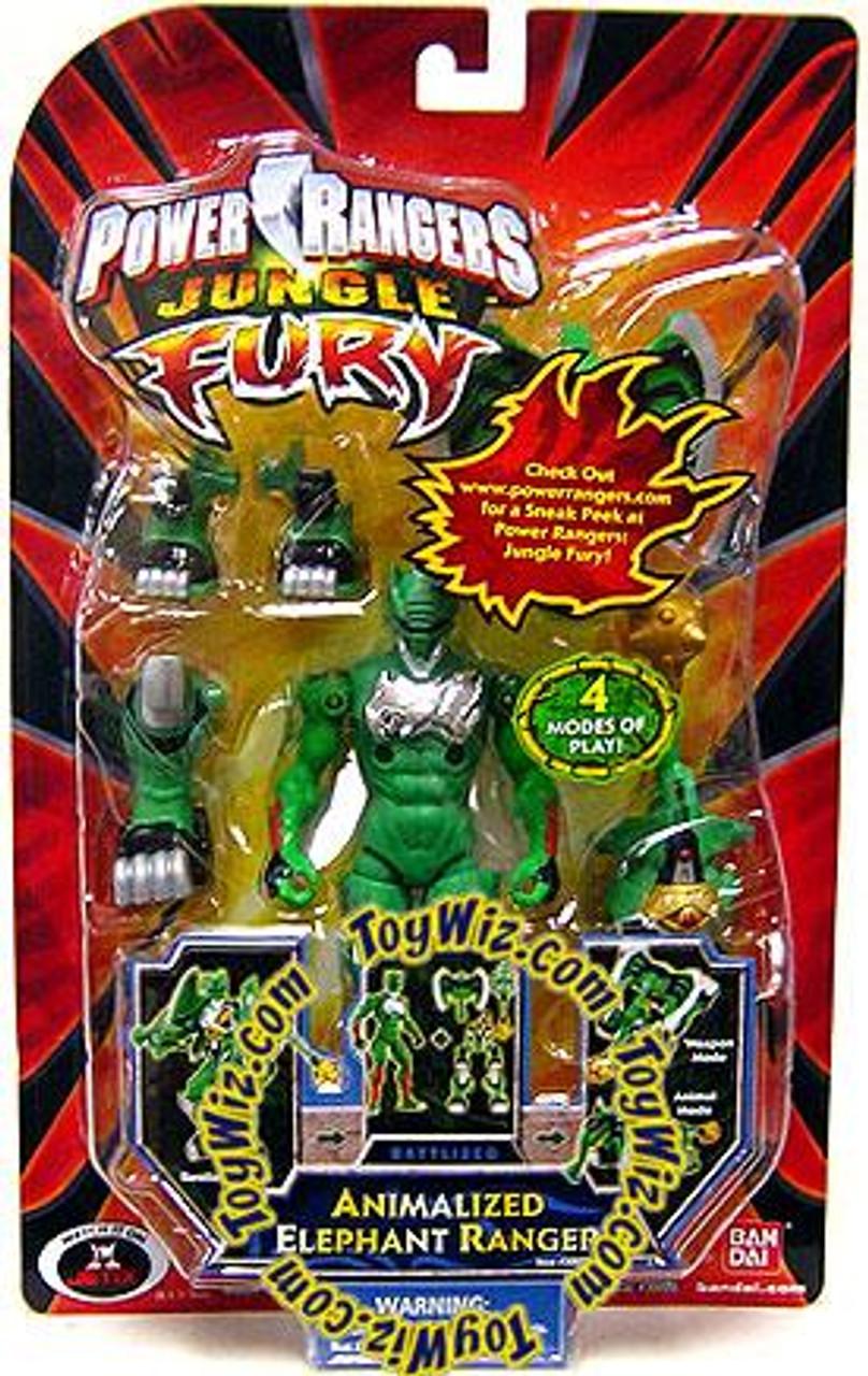 Power Rangers Jungle Fury Battlized Animalized Elephant Ranger Action Figure [Green Ranger]