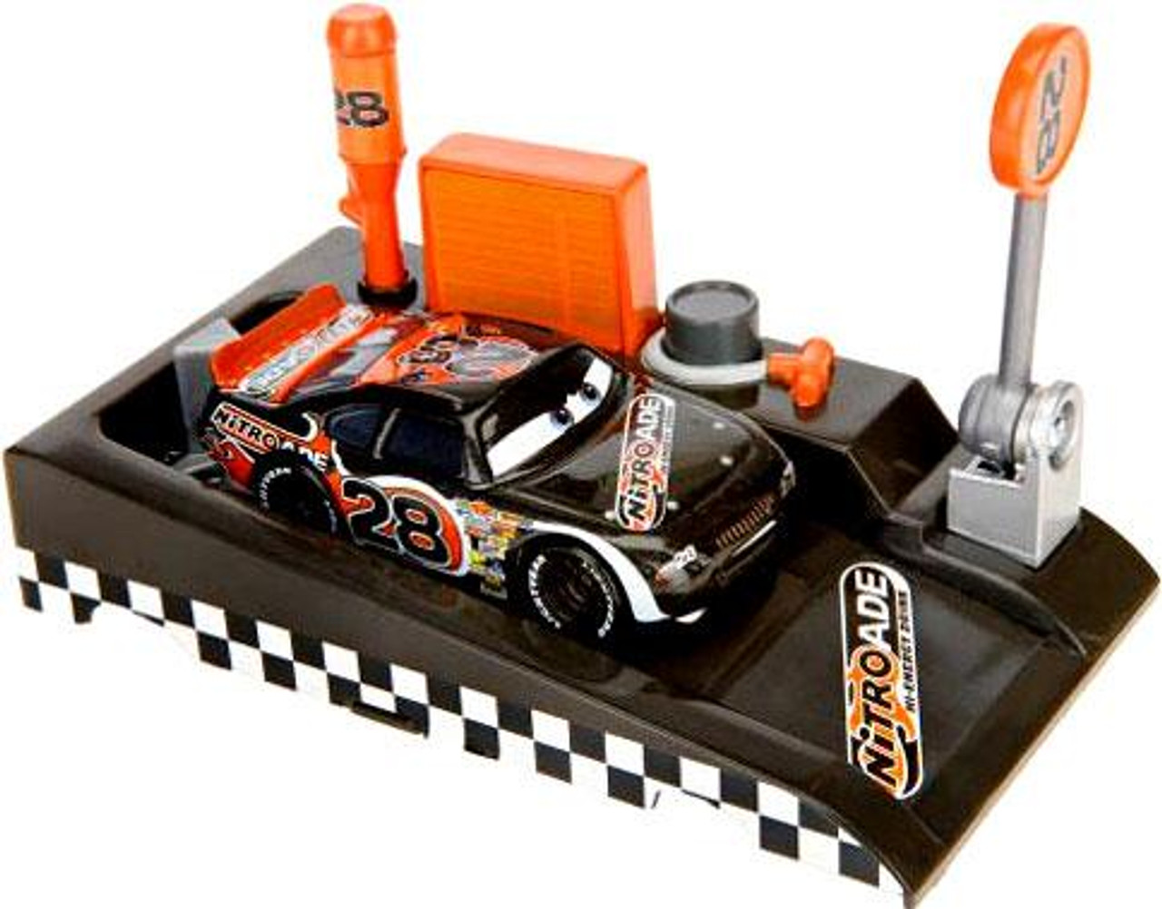 Disney Cars Pit Row Race-Off Nitroade No. 28 Diecast Car [Includes Launcher]
