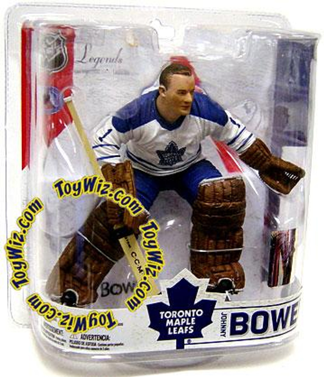 McFarlane Toys NHL Toronto Maple Leafs Sports Picks Legends Series 6 Johnny Bower Action Figure [White Jersey Variant]
