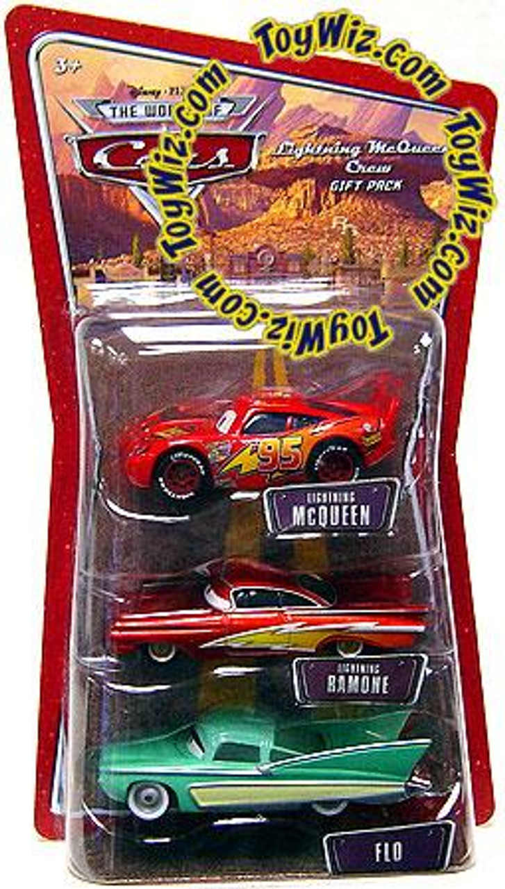 Disney Cars The World of Cars Lightning McQueen Crew Gift Pack Diecast Car Set