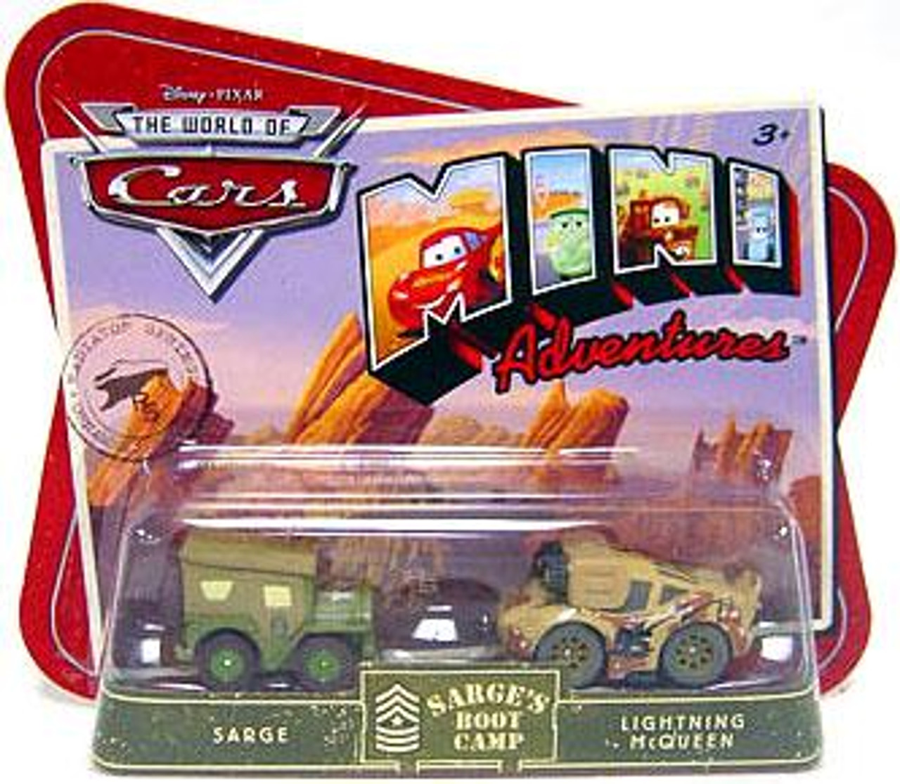 Disney Cars The World of Cars Mini Adventures Sarge & McQueen Plastic Car 2-Pack [Sarge's Boot Camp]