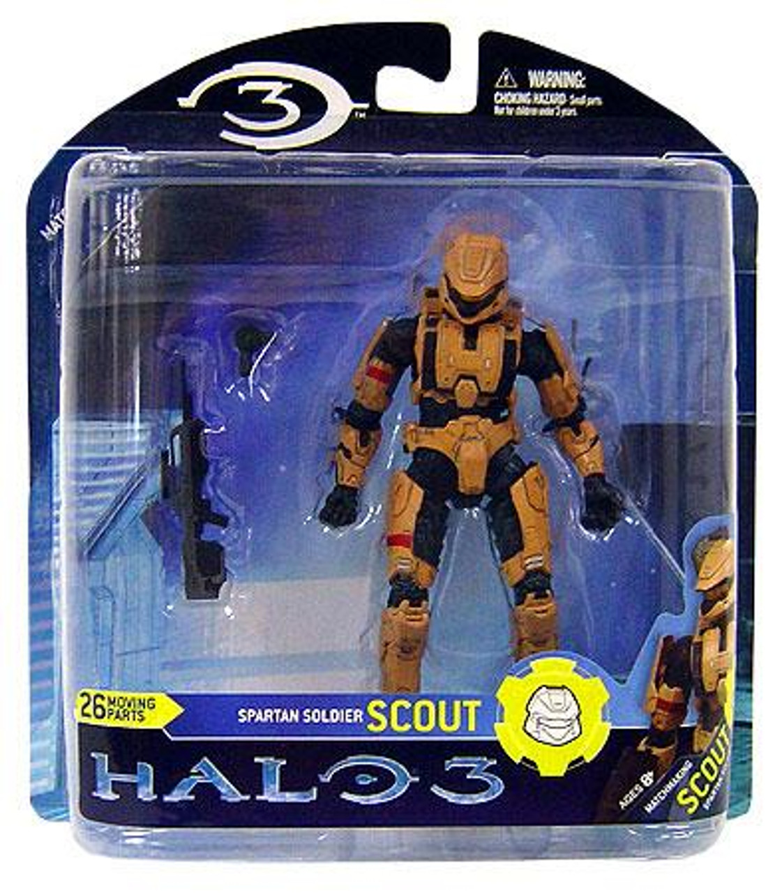 McFarlane Toys Halo 3 Series 2 Spartan Soldier Scount Action Figure [Tan]