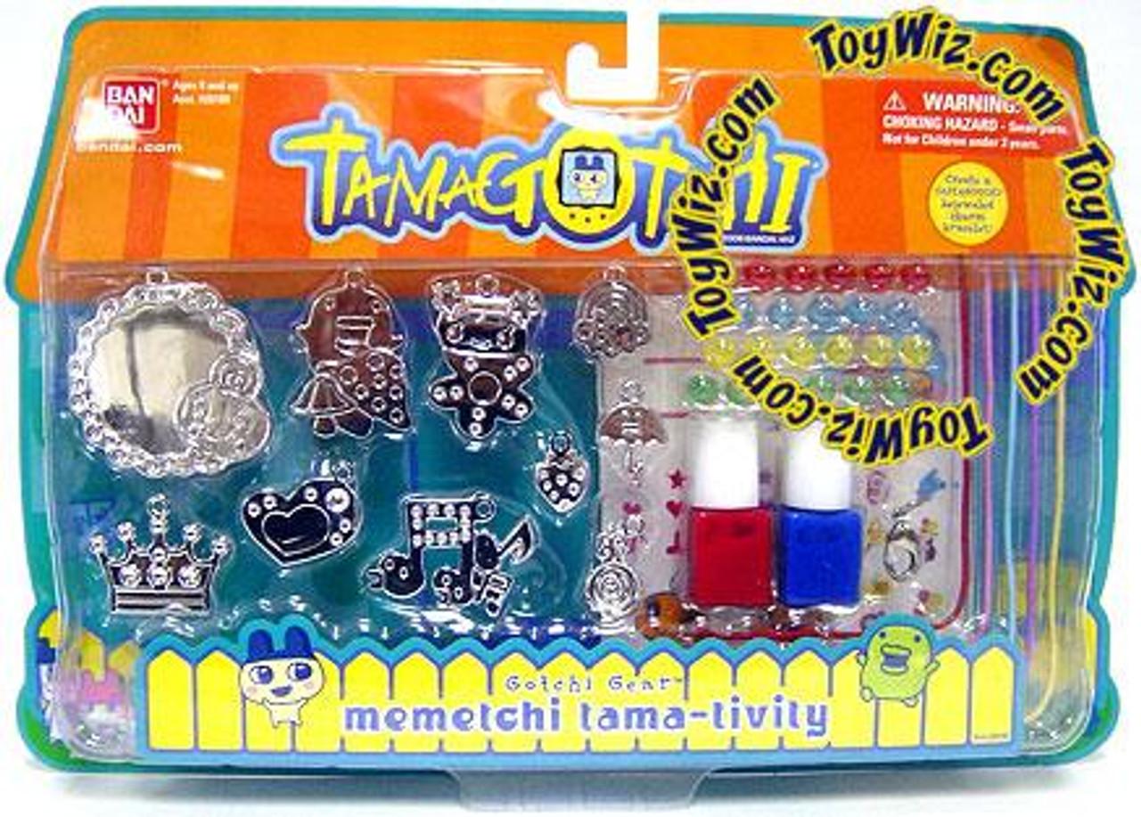 Tamagotchi Gotchi Gear Charm Bracelet Memetchi Tama-Tivity Activity Set [Red & Blue Paint]