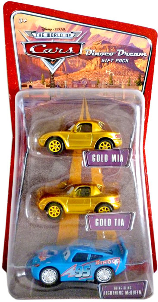 Disney Cars Bling Bling Lightning McQueen Diecast Car 3-Pack