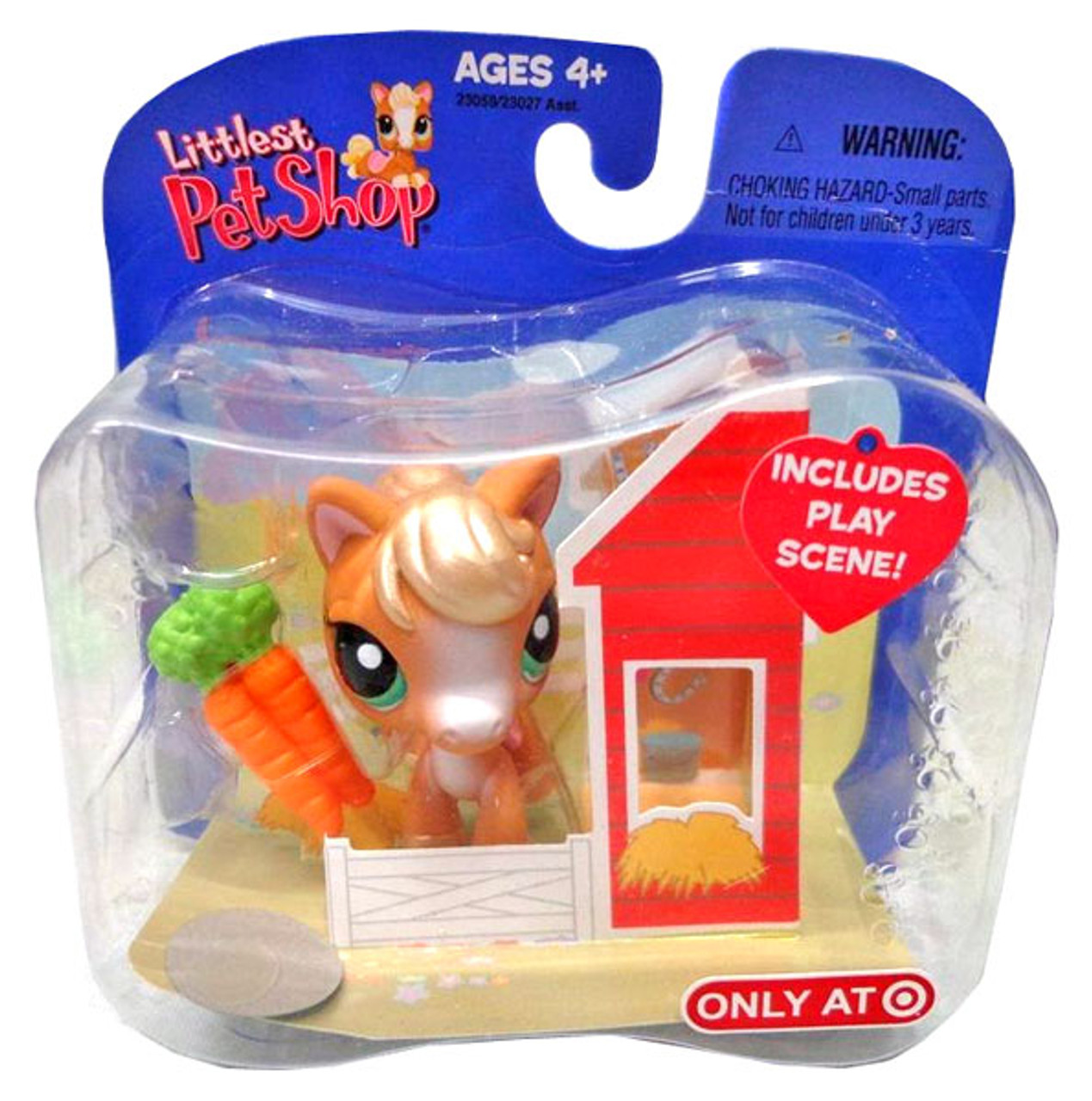 Littlest Pet Shop Horse Exclusive Figure [Barn with Carrots]