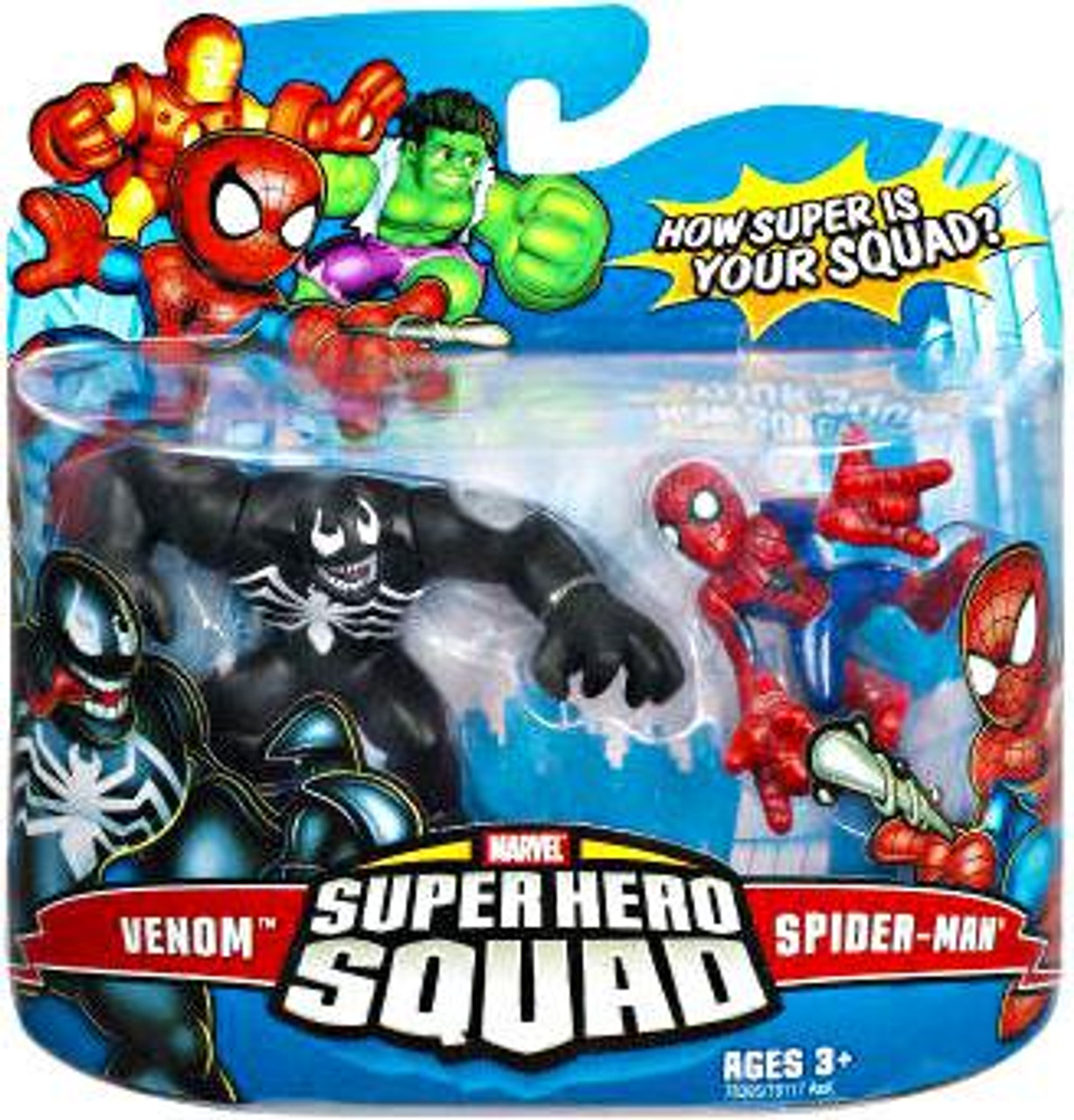 Marvel Super Hero Squad Series 7 Venom & Spider-Man Action Figure 2-Pack