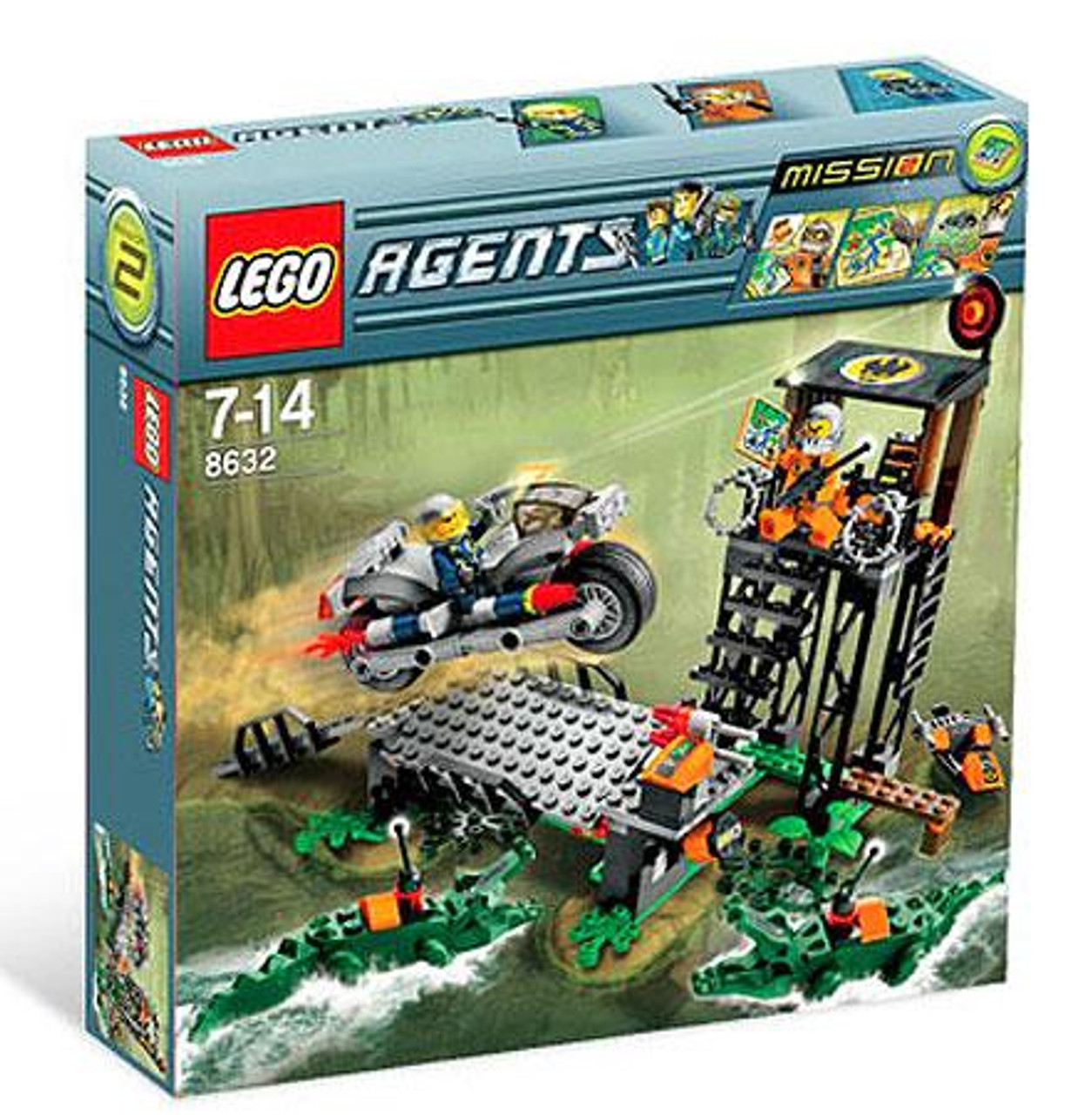 LEGO Agents Mission 2: Swamp Raid Set #8632