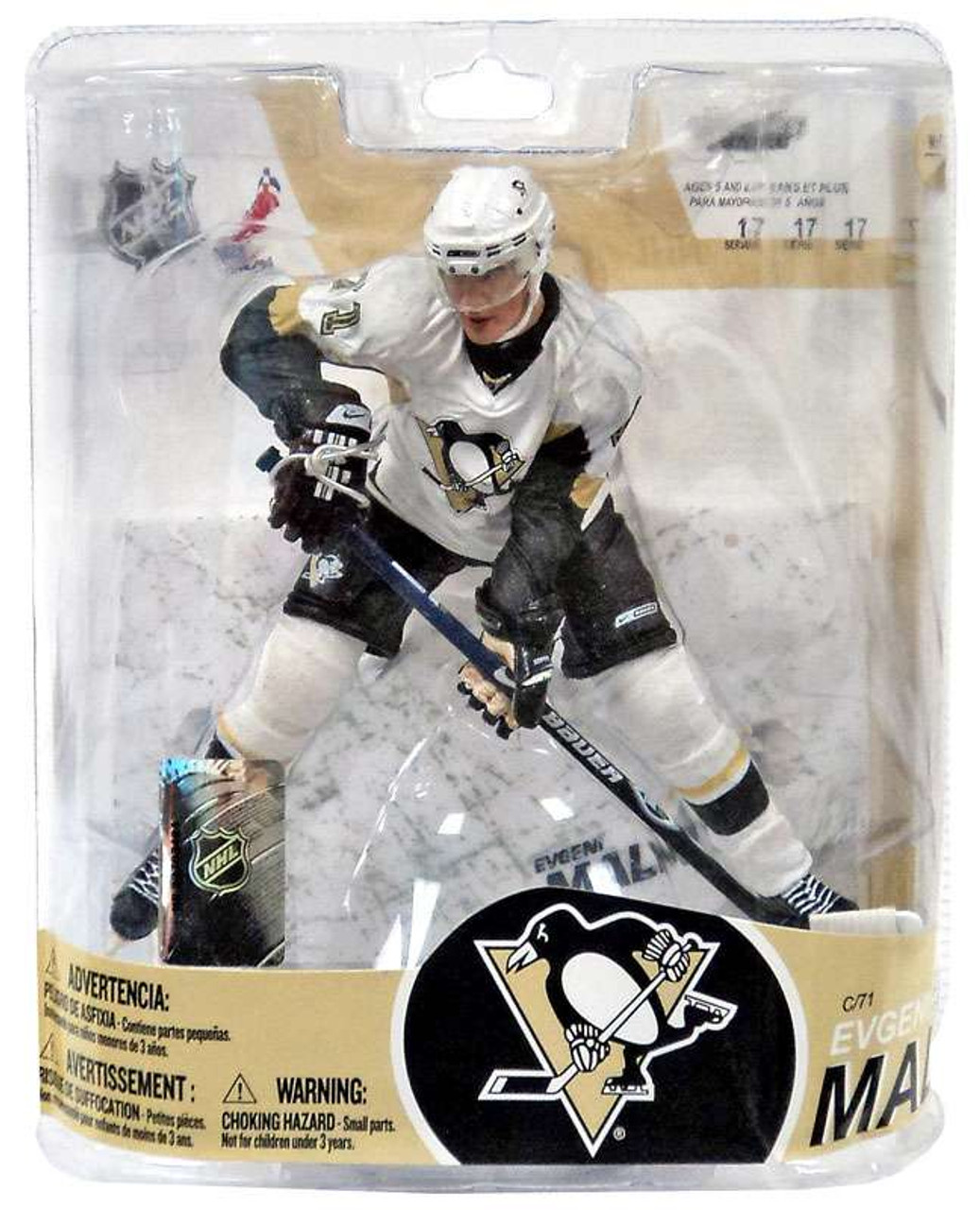 McFarlane Toys NHL Pittsburgh Penguins Sports Picks Series 17 Evgeni Malkin Action Figure [White Jersey Variant]