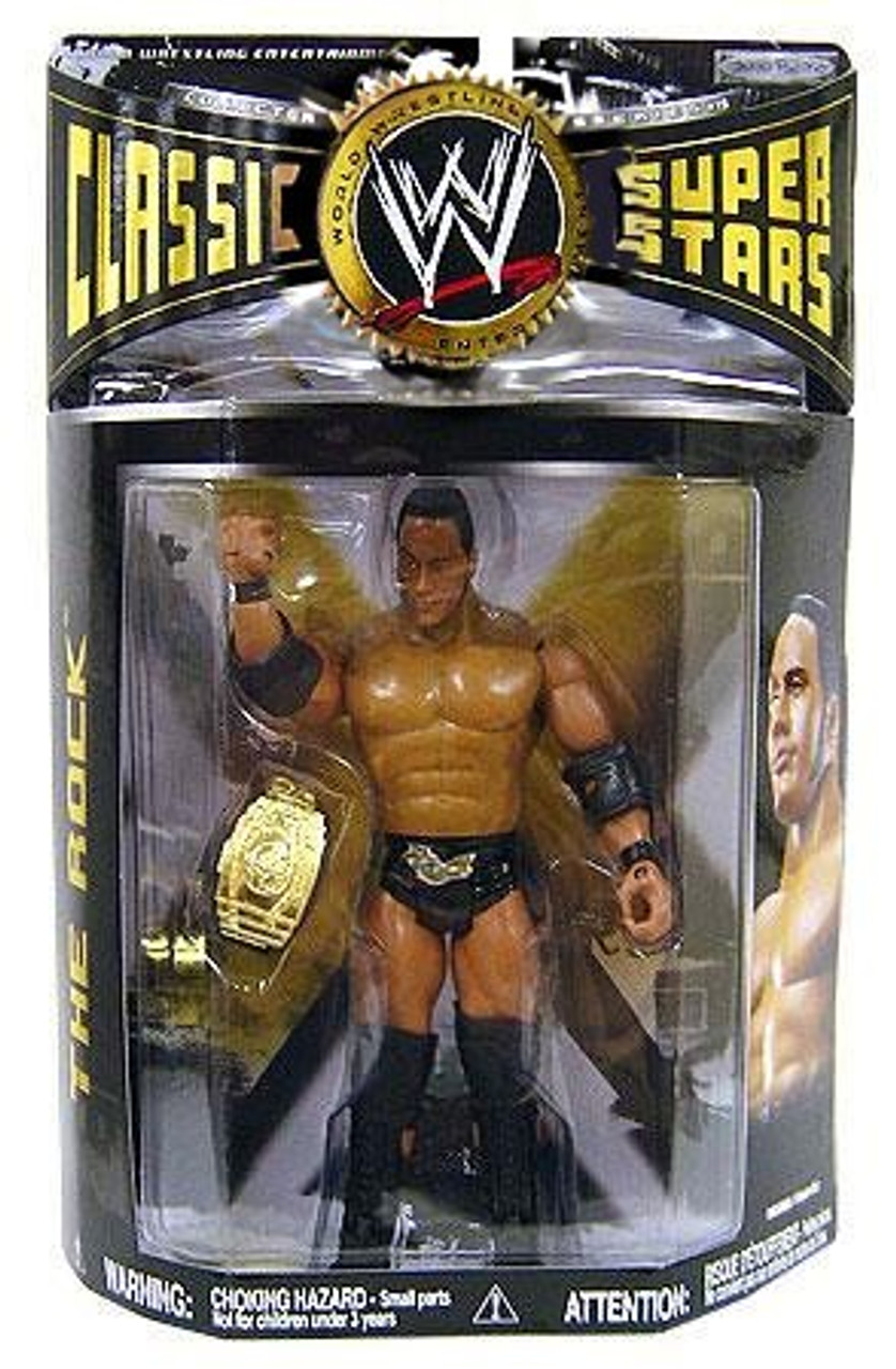 WWE Wrestling Classic Superstars Series 19 The Rock Action Figure