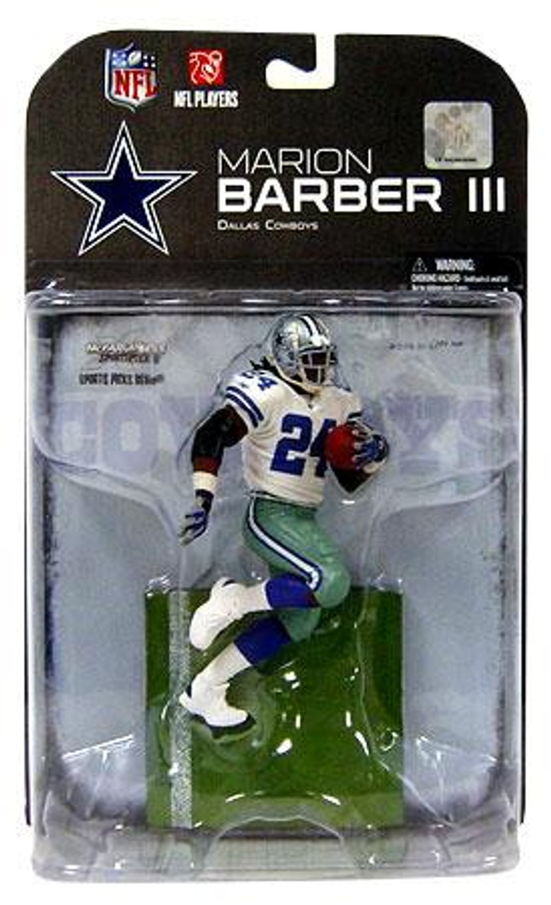 McFarlane Toys NFL Dallas Cowboys Sports Picks Series 19 Marion Barber Action Figure [White Jersey]