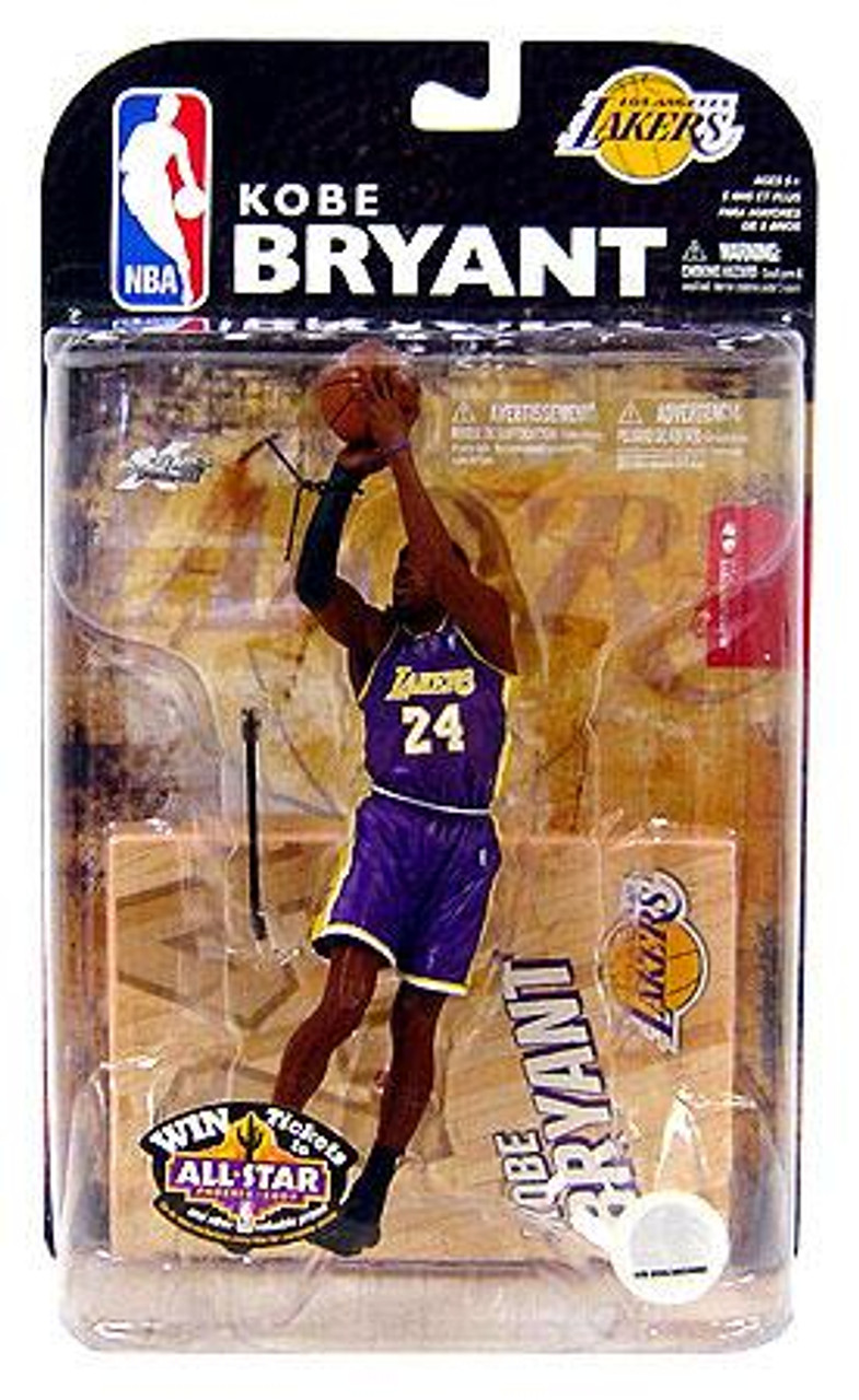 McFarlane Toys NBA Los Angeles Lakers Sports Picks Series 15 Kobe Bryant Action Figure [Purple Jersey]