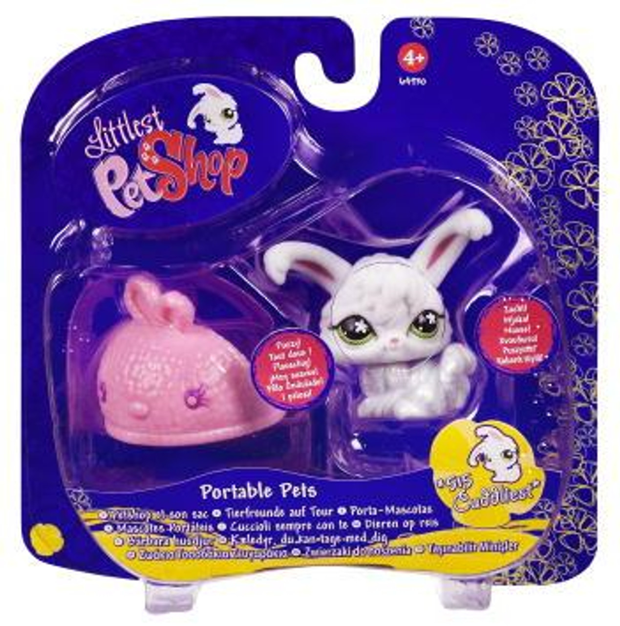 Littlest Pet Shop Portable Pets Angora Bunny Figure #515 [With Slipper]