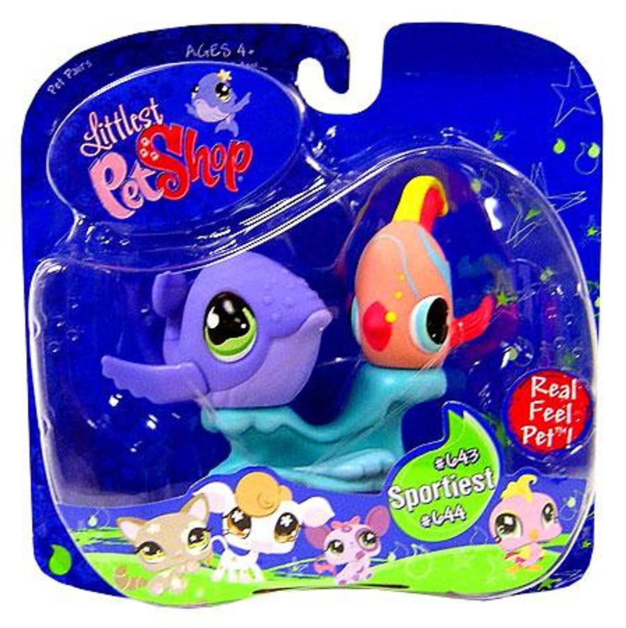 Littlest Pet Shop Pet Pairs Fish & Whale Figure 2-Pack #643, 644