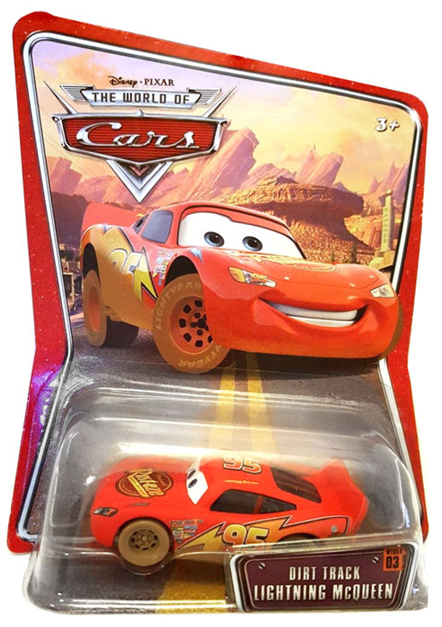 Disney Cars The World of Cars Dirt Track Lightning McQueen Diecast Car