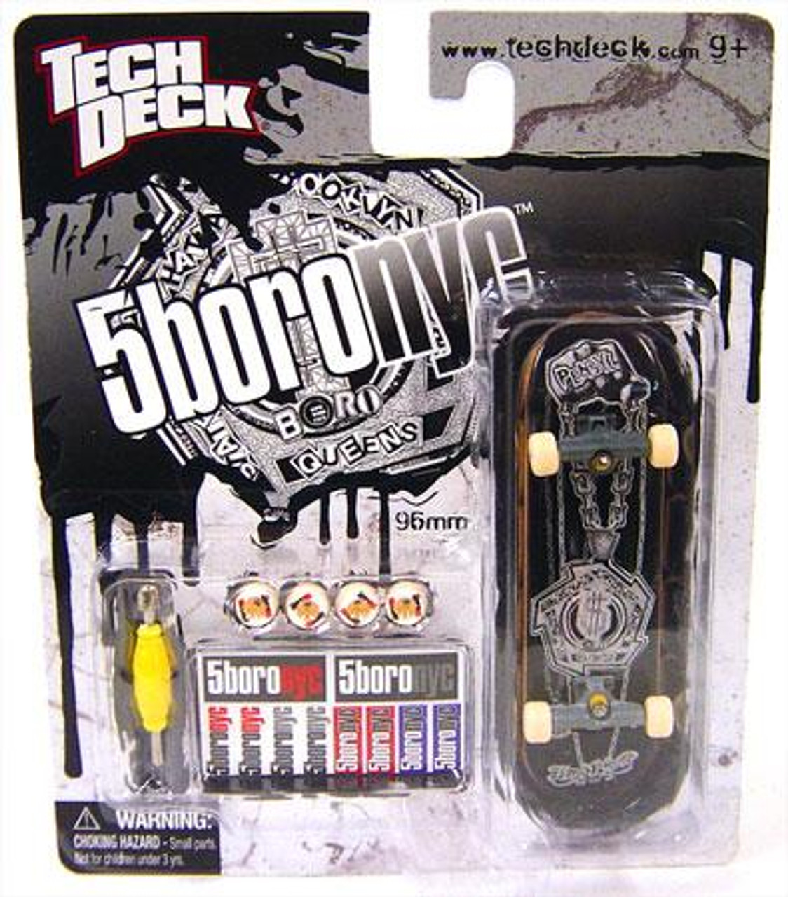Tech Deck 5BoroNyc 96mm Mini Skateboard [Black]