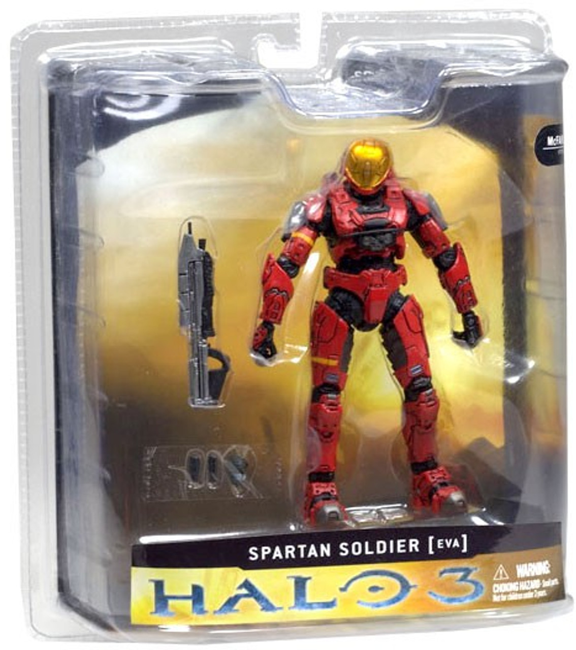 McFarlane Toys Halo 3 Series 1 Spartan Soldier EVA Action Figure [Red]
