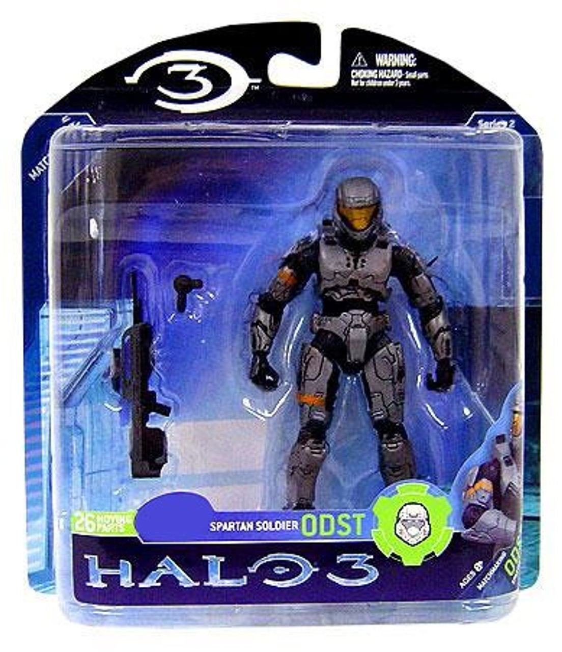 McFarlane Toys Halo 3 Series 2 Spartan Soldier ODST Exclusive Action Figure [Steel]