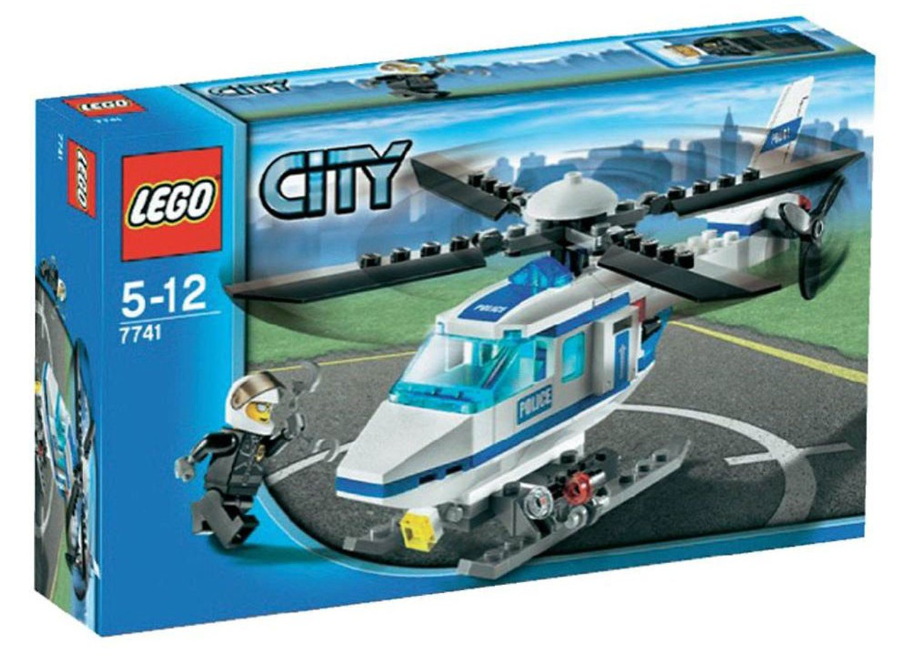 lego city police helicopter set 7741 toywiz