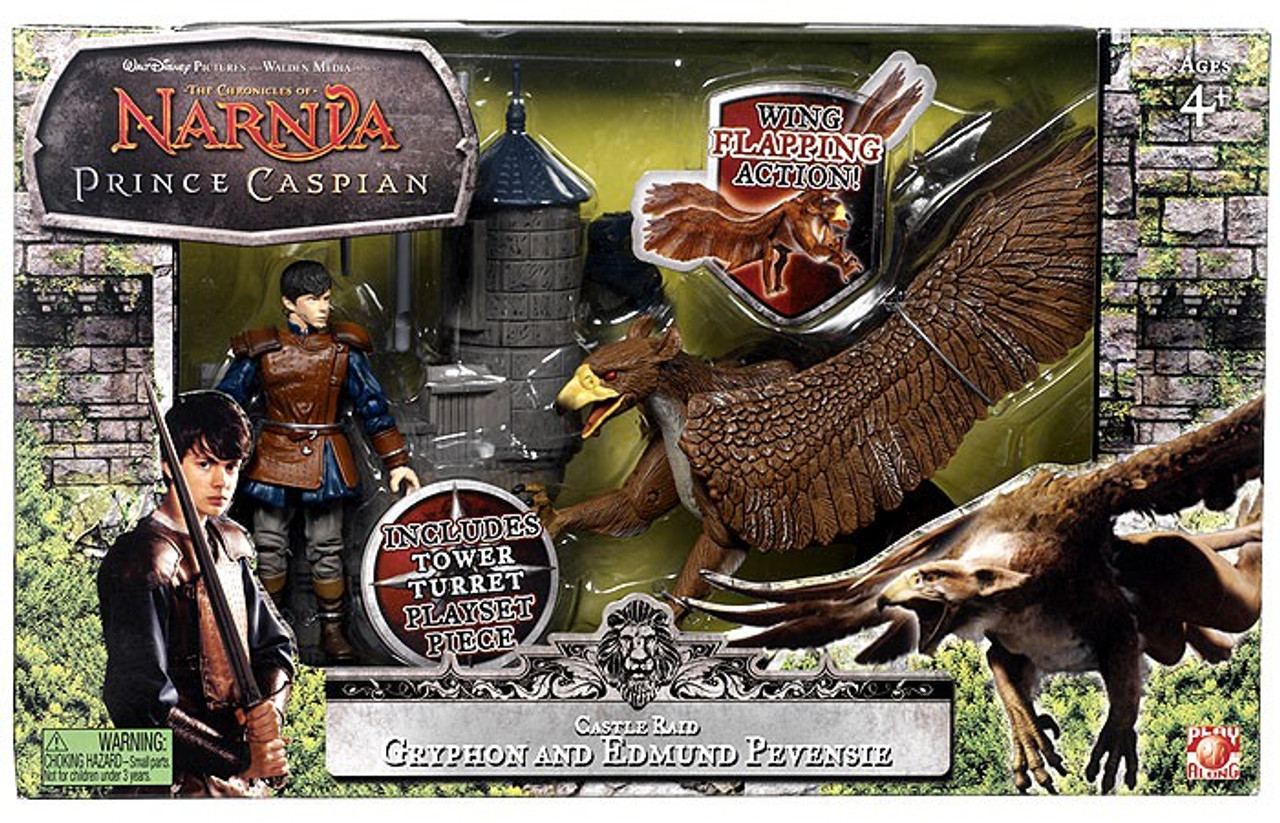 The Chronicles of Narnia Prince Caspian Castle Raid Gryphon & Edmund Pevensie Action Figure 2-Pack