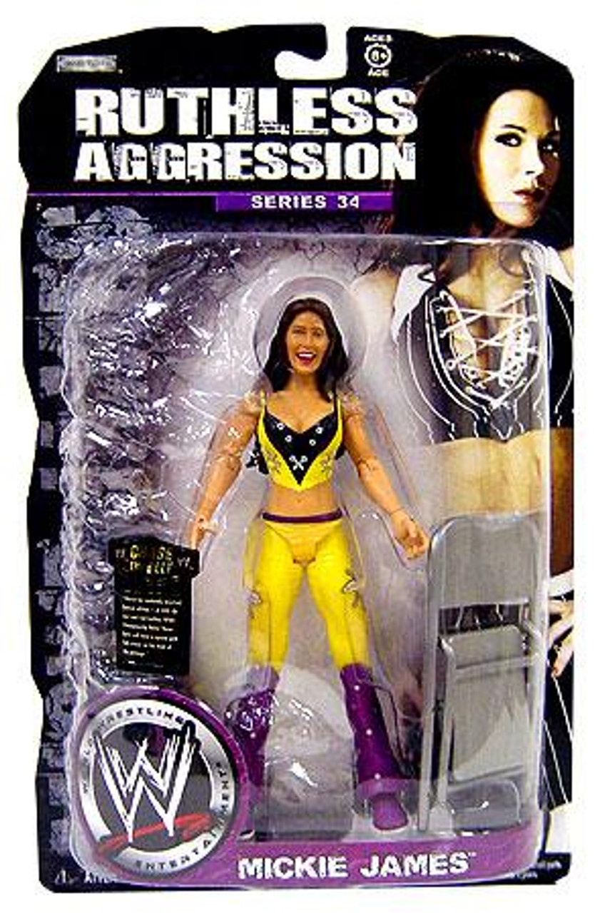 WWE Wrestling Ruthless Aggression Series 34 Mickie James Action Figure