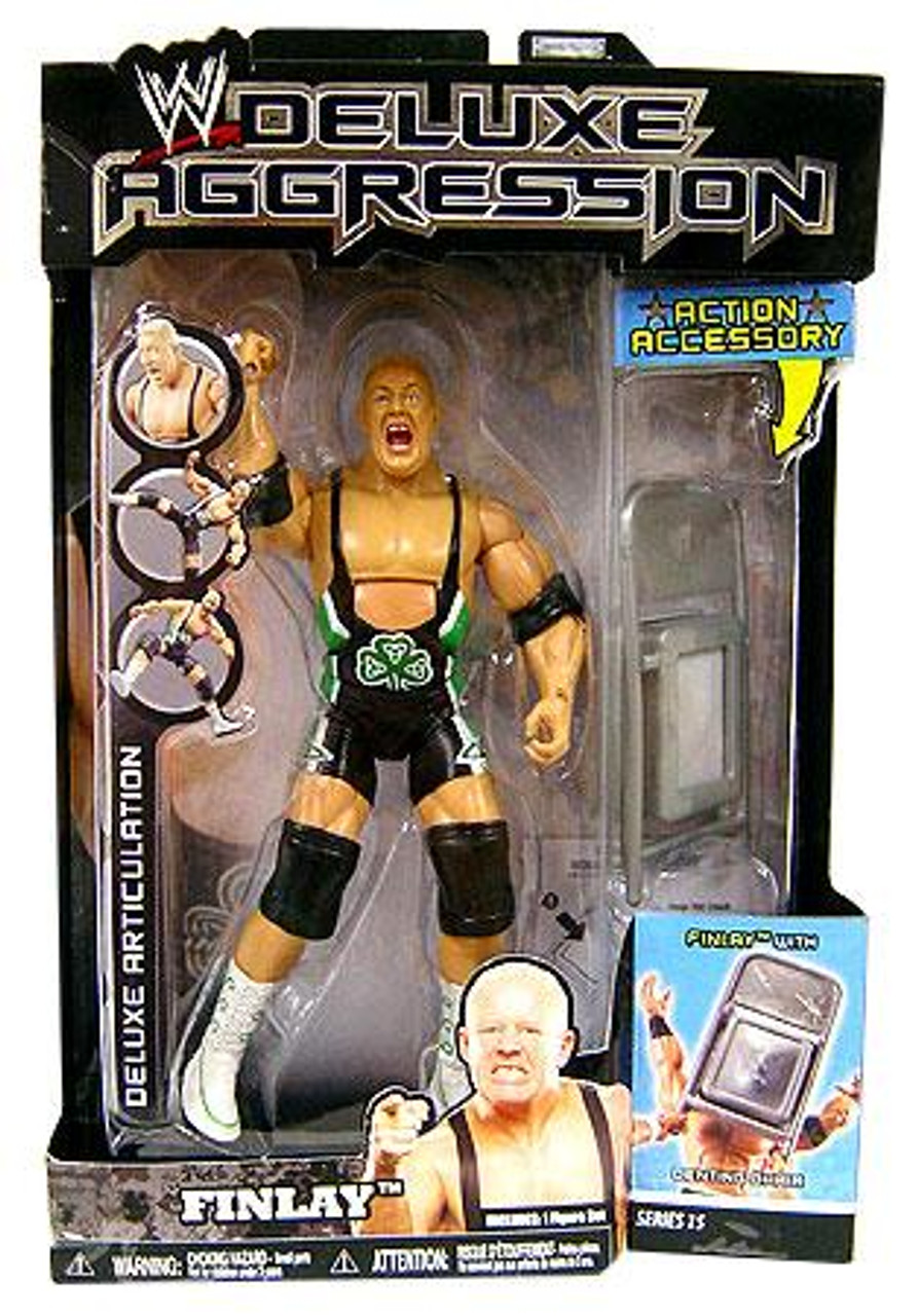 WWE Wrestling Deluxe Aggression Series 15 Finlay Action Figure