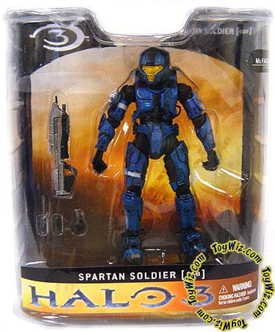 McFarlane Toys Halo 3 Series 1 Spartan Soldier CQB Exclusive Action Figure [Blue]