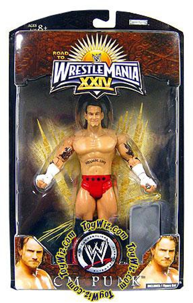 WWE Wrestling Road to WrestleMania 24 Series 2 CM Punk Exclusive Action Figure