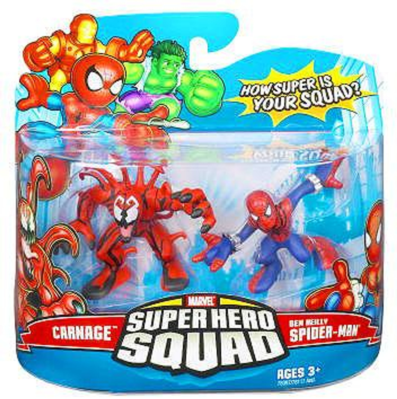 Marvel Super Hero Squad Series 8 Carnage & Ben Reilly Spider-Man Action Figure 2-Pack