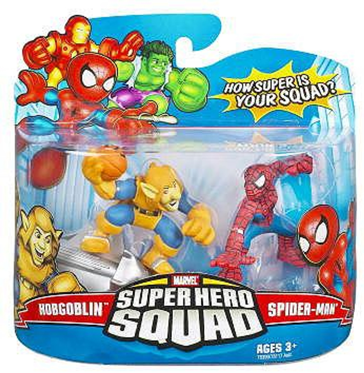 Marvel Super Hero Squad Series 8 Hobgoblin & Spider-Man Action Figure 2-Pack
