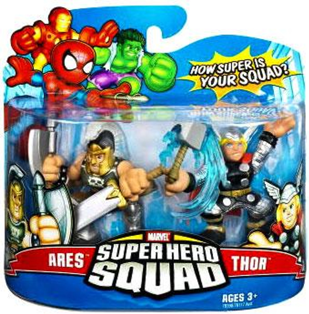 Marvel Super Hero Squad Series 8 Ares & Thor Action Figure 2-Pack