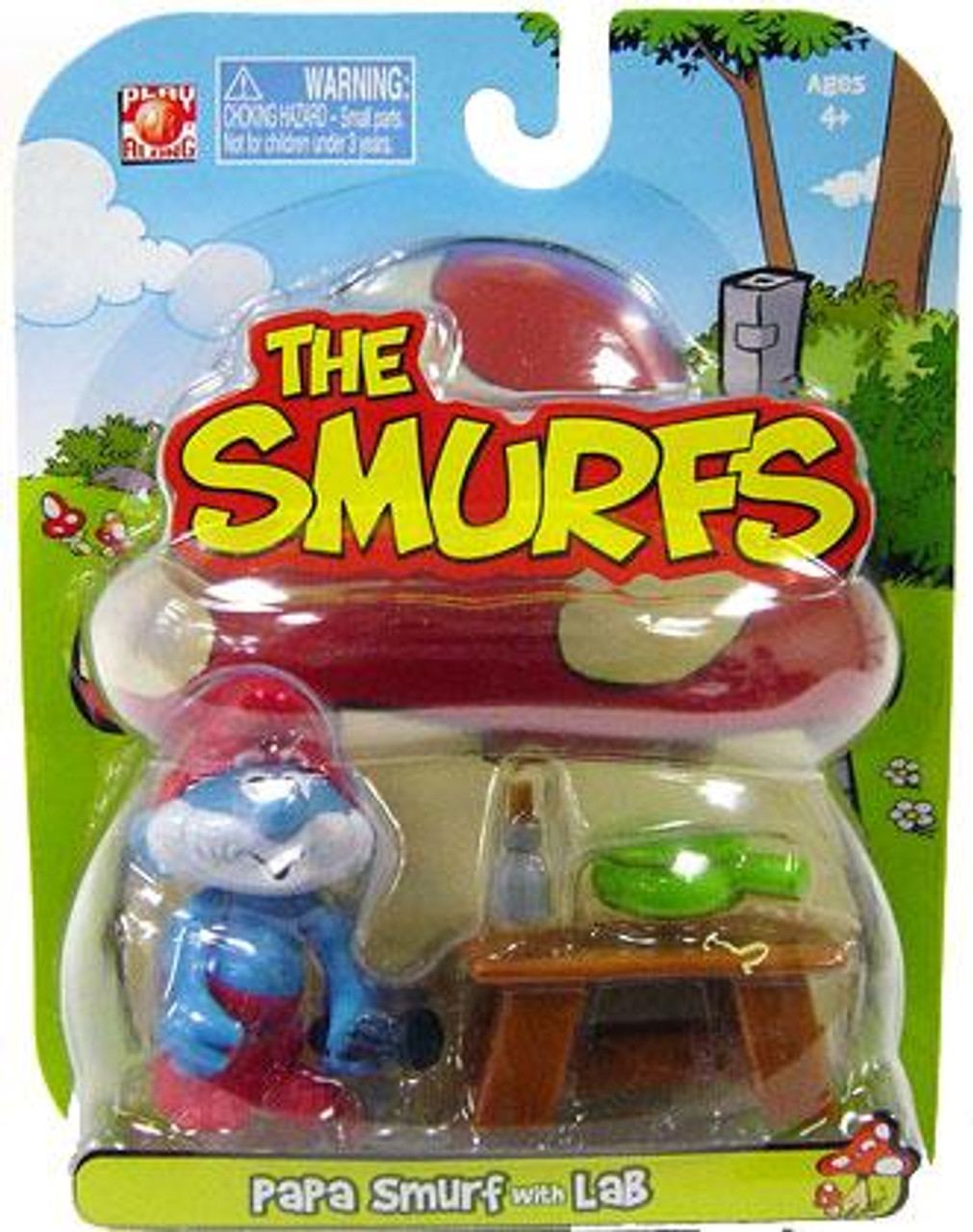The Smurfs Articulated Papa Smurf 2-Inch Mini Figure [With Lab]