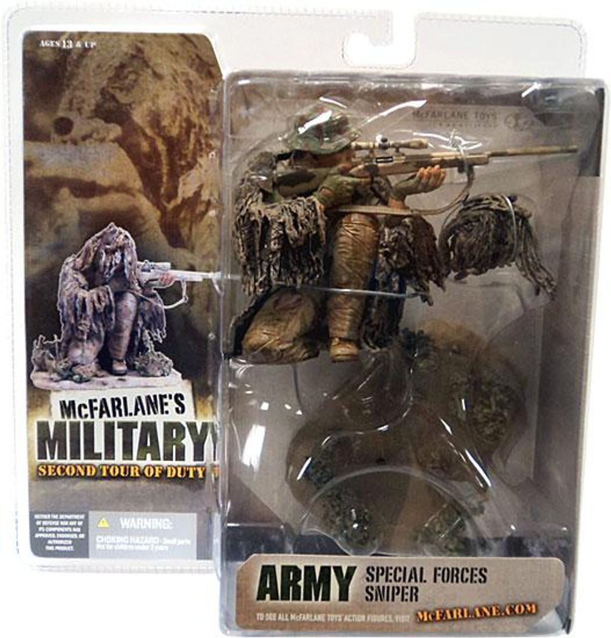McFarlane Toys Military 2nd Tour of Duty Special Forces Sniper Action Figure [Caucasian]